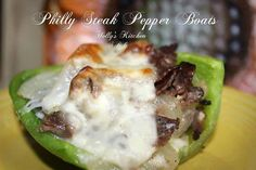 Philly Steak Pepper Boats - Low Carb  You will Need: 4 Bell Peppers.. I use Green 10 oz. Thinly Sliced Roast Beef 8 slices of Provolone Cheese 1 large Sweet onion sliced 4 Tbs. Butter 4 Tbs. Olive Oil 1 Tbs Minced Garlic Sea Salt and Pepper To taste  How you do it:  Slice Peppers in half long ways...clean seeds out and step part off In a large pan over med heat...add butter, olive oil, garlic and onions...salt and pepper....saute them till they are caramelized...Approx 30 min.  Pre heat…