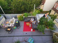 Meine Terrasse im August plus mein liebstes Teerezept für müde Sommermorgen, Stadtgarten, gärtnern in der Stadt, Terrassenkräuter, Teekräuter