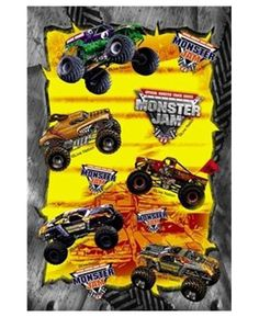 Monster Truck Jam Party Favor Stickers