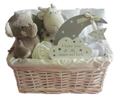 Baby Gift Basket Neutral Unisex Baby Hamper. Baby Shower Gift Basket. Nappy Cake | eBay