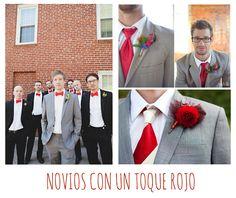 Novios de rojo. Ideas para bodas en San Valentín