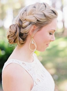 #hairstyle, #updo, #braid  Photography: Jessica Gold Photography - www.jessicagoldphotography.com