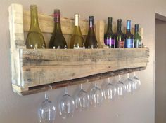 Reclaimed wood wine rack. $79.00, via Etsy.