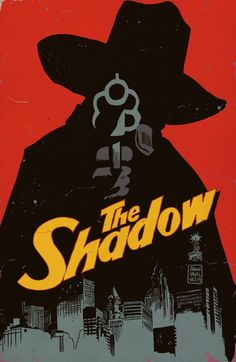 """THE SHADOW in  """"THE CAVERNS OF DEATH"""" Lobby Card art by Francesco Francavilla  Time for another Old Time Radio episode of the Shadow (with legendary Orson Welles providing the voice of Cranston/Shadow)."""