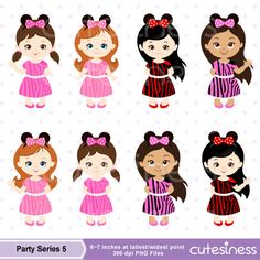 Minnie Mouse tutu Clipart Minnie Mouse Birthday par Cutesiness