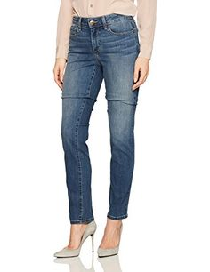 NYDJ Womens Sheri Slim Jeans in Cool Embrace Denim Zimbali 16 -- To view further for this item, visit the image link. #FashionHoodiesandSweatshirts