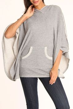 Gray & White Pocket Detail Cape  This looks like the most comfortable thing in the world. Please please please someone give me this for christmas!