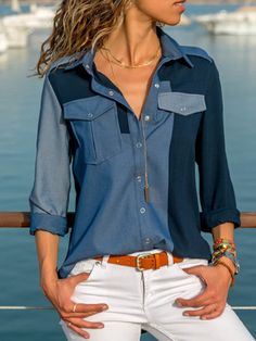 Comfy & Casual Tops 0508 – Page 3 – jullymart Stylish Shirts, Trendy Outfits, Teen Fashion, Fashion Outfits, Womens Fashion, Classy Fashion, Ootd Fashion, Fashion 2017, Fashion Clothes