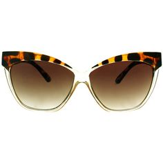 61dfa4ae621 Asos Cat Eye Sunglasses With Contrast Highbrow ( 16) ❤ liked on Polyvore Cat  Eye
