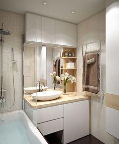 Ideas Bathroom Sink Vanity Small Towel Racks For 2019 Bathroom Sink Vanity, Wood Bathroom, Laundry In Bathroom, Bathroom Furniture, Bathroom Storage, Modern Bathroom, Laundry Rooms, Bathroom Pink, Storage Mirror