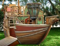Pirate Ship Play House!