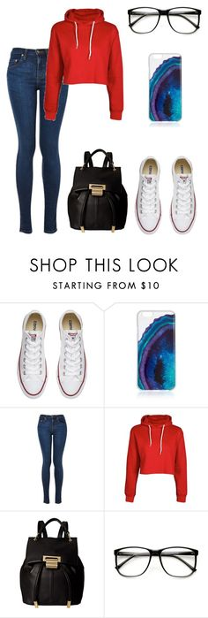 """simply nerdy"" by audrey-baller ❤ liked on Polyvore featuring Converse, Boohoo, Ivanka Trump and ZeroUV"