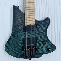 "Teruya Guitars on Instagram: ""Aurora 7 is for sale on my website! Have a great Labor Day weekend! #headlessguitar #goheadless #headless #customguitar #customemade…"" Labour Day Weekend, My Website, Sale On, Aurora, Guitars, Instagram, Northern Lights, Guitar, Vintage Guitars"