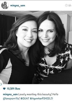 Ming-Na Wen and Lana Parrilla