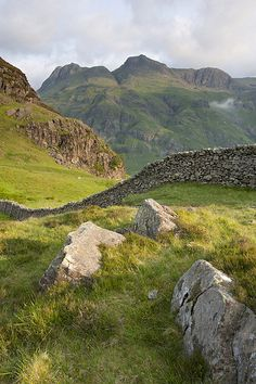 Langdale Pikes from Lingmoor Fell, Lake District National Trust, England -- This time next week.... :D