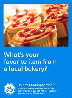 What's your favorite item from a local bakery? Cheese Danish...oh so good!  #GEfreshFL