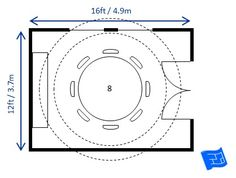 Heres A 12 X 16ft Dining Room For 8 With Circular Table This