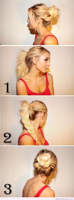The Braid Bun – so simple and chic