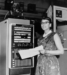 """Melba Roy, NASA Mathmetician, at the Goddard Space Flight Center in Maryland in 1964. Ms. Roy led a group of NASA mathmeticians known as """"computers"""" who tracked the Echo satellites. The first time I shared Ms. Roy on VBG, my friend Chanda Prescod-Weinstein, a former postdoc in astrophysics at NASA, helpfully explained what Ms. Roy did in the comment section. I am sharing Chanda's comment again here: """"By the way, since I am a physicist, I might as well explain a little bit about what"""