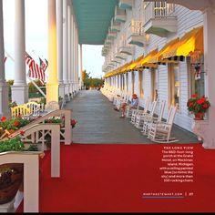 Grand Hotel, Mackinac Island Michigan.  Will stay here one day!