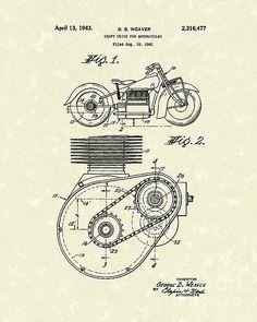 Shaft Drive 1943 Patent Art