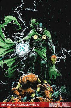 Iron Man: Armor Wars # 2 by Skottie Young Dr Doom Marvel, Hq Marvel, Marvel Comics Art, Marvel Comic Books, Fun Comics, Comic Book Heroes, Marvel Heroes, Comic Books Art, Comic Art