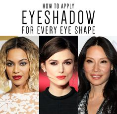 Tips for applying eyeshadow the right way on each eye shape.  #eyeshadow