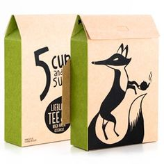 {5 Cups and some Sugar} German tea company - love their packaging!