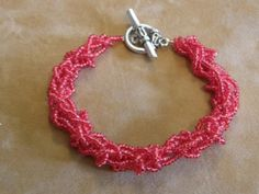 Looming With Beads!  Loom Knitting Pattern