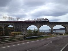 Jacobite Express en route to Mallaig, Scotland.  Oct 2013