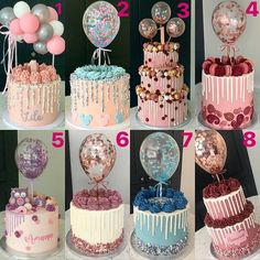 Balloon cakes have totally dominated my year.I did a post similar to this April (swipe across) I feel like iv done so many different… Creative Birthday Cakes, 16 Birthday Cake, Beautiful Birthday Cakes, Creative Cakes, Beautiful Cakes, Amazing Cakes, Cake Decorating Techniques, Cake Decorating Tips, Pretty Cakes