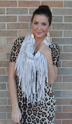 Fringe Infinity Scarf,  Multiple Colors, $31.00