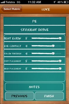 Assessment made easy with customized class lists and rubrics. It's by PE teacher Jarrod Robinson.