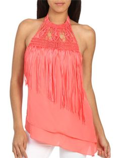 Cut Away Fringe Top from ArdenB.com