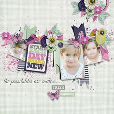 Page made by Conny using Stitched Up #03 | Templates by Akizo Designs (Digital Scrapbooking layout)