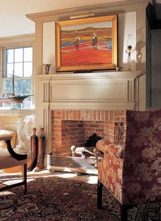 mantel trim in federal style
