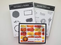 Christmas Catalogs, Fall Cards, Paper Pumpkin, Texture, Halloween Cards, Stamping Up, Greeting Cards Handmade, Stampin Up Cards, Cardmaking