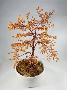carnelian wire tree por sandrinasartistry en Etsy