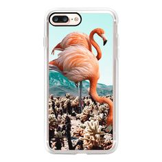 Flamingos In The Desert iPhone and iPod Case - iPhone 7 Plus Case And... ($40) ❤ liked on Polyvore featuring accessories, tech accessories, iphone case, apple iphone case, iphone cover case, iphone cases and clear iphone case