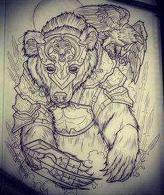 Bear tattoo design • Visit artskillus.ru for more tattoo ideas