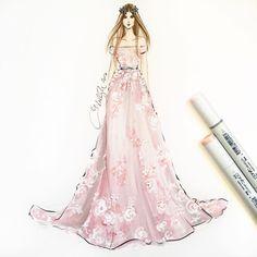 @zuhairmuradofficial sketched using @copicmarker and acrylics #zuhairmurad #zuhairmuradcouture #pfw #parisfashionweek #pfw16 #couture #fashionsketch #fashionillustration #fashionillustrator #bostonblogger #bostonillustrator #copic #copicmarkers #hnicholsillustration