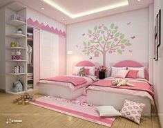 top apartment bedroom decor ideas boho style page 26 23 Kids Bedroom Designs, Kids Bedroom Sets, Kids Room Design, Twin Girl Bedrooms, Girls Bedroom, Apartment Bedroom Decor, Room Decor Bedroom, Kids Room Furniture, Luxurious Bedrooms
