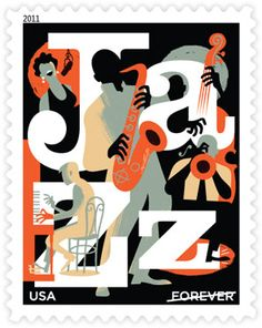 Jazz • as part of the USPS collection • Designed by Paul Rogers • March 26, 2011
