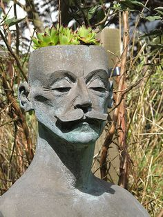 Head Planter by Marg7165, via Flickr...this one is interesting.