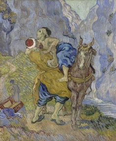 Art of the Day: Van Gogh, The Good Samaritan (after Delacroix), early May 1890. Oil on canvas, 73 x 60 cm.