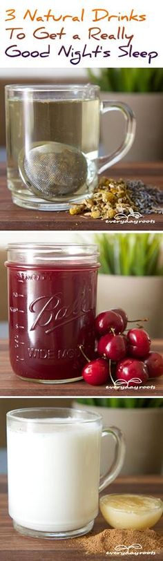 Photo: 3 Natural Drinks To Get a Really Good Night's Sleep  http://getfitandmotivated.com/3-natural-drinks-to-get-a-really-good-nights-sleep/?fb  3 incredibly simple drinks that you can whip up before bedtime that will help you relax, unwind, and drift off to dreamland.  You can pin it here: http://pinterest.com/pin/426364289693542945/