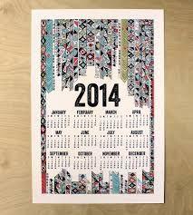 2014 Poster Calendar - Geometric by Made by Michelle Brusegaard on Scoutmob Shoppe Cute Calendar, Calendar Design, Photoshop Design, Print Patterns, Typography, Design Inspiration, Graphic Design, Etsy, Fiscal Calendar