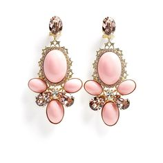 Anton Heunis Pink Triple Cabouchon Cluster Earring ($206) ❤ liked on Polyvore
