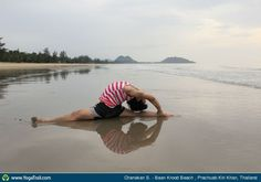 "Yoga Poses Around the World: ""Monkey Pose - by Chanakan S., in Thailand"""