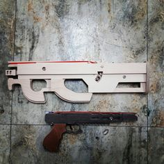 Wood rubber band gun